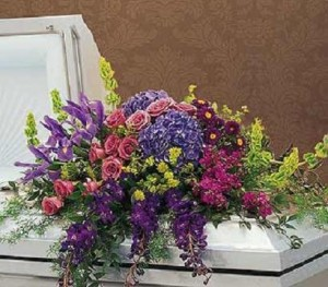 Graceful Tribute Casket Spray in Dunellen, NJ | PONTI'S PETALS