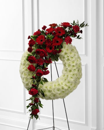 Graceful Tribute Wreath Standing Wreath