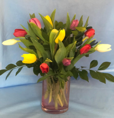 Graceful Tulips Keepsake Vase