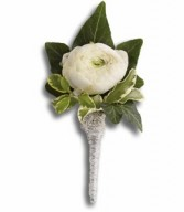 Graceful White Boutonniere H2029A