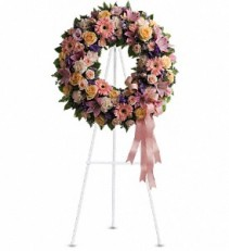 Graceful Wreath Funeral Standing Spray