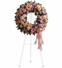 Graceful Wreath Funeral Standing Spray