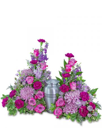 Gracefully Majestic Celebration of Life Surround Sympathy Arrangement