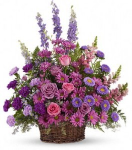 Gracious Lavender Basket    Large Basket Arrangement