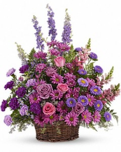 Lavender Wishes Basket in San Bernardino, CA | INLAND BOUQUET FLORIST