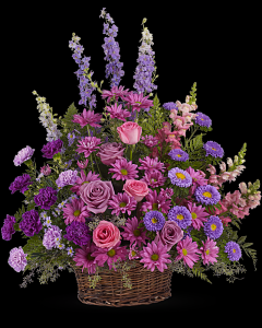 Gracious Lavender Basket in White Oak, PA | Breitinger's Flowers & Gifts