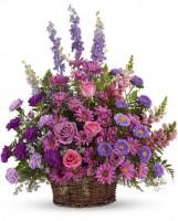 Gracious Lavender Basket Funeral Basket