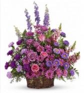 Gracious Lavender Basket Sympathy