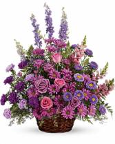 Gracious Lavender Basket T235-1 24.5