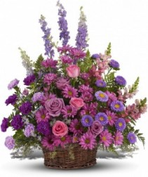 Gracious Lavender Basket T235-1A