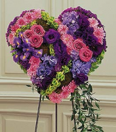 Gracious Lavender Bleeding Heart Arrangement