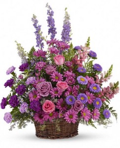 Gracious Lavender Sympathy Basket in Warrington, PA | ANGEL ROSE FLORIST INC.