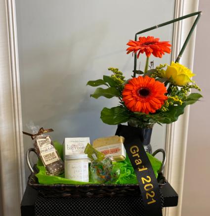 grad basket Flower Arrangement basket