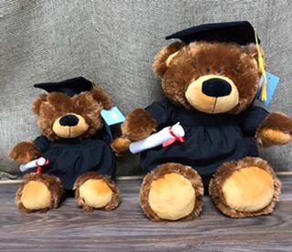"Grad ""Bobby"" bear  Choose large or medium"
