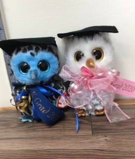 Grad owls with K Grad ribbon
