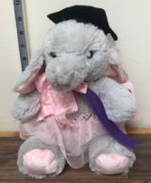 Grad plush   Grad Elephant with ribbon