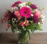 Graduating in Style Fresh Vase Arrangement
