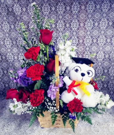 Graduation Bear Floral Design