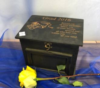 Graduate of 2020 rustic box Personalized with name and verse