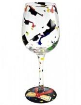 Graduation Hats* Lolita Wine Glass