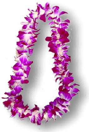 Orchid Lei  colors vary