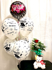 Graduation Special flowers and balloons