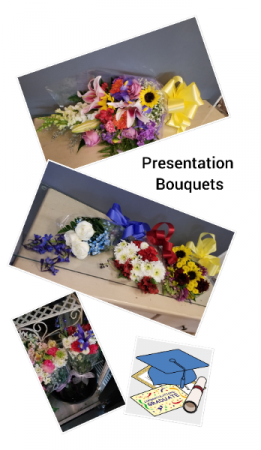 Presentation Bouquets $10 & up Graduations, Recitals, Teacher Gifts