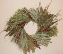 Grain Wreath  Add ribbon of your choosing Wreath  21 in