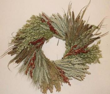 Grain Wreath Wreath  21 in