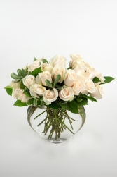 Grand Boho White Roses Luxury