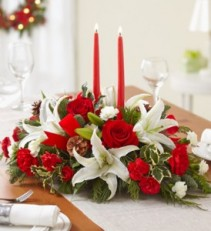 Grand Holiday Fresh Table Centerpiece