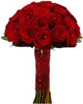 GRAND PRIX RED ROSE  BRIDAL BOUQUET
