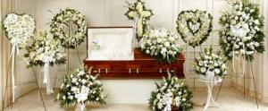 Grand White Collection Funeral in Hesperia, CA | FAIRY TALES FLOWERS & GIFTS