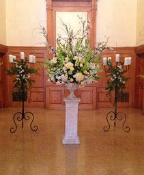 Grand White Garden Table Arrangement