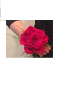 Grande Rose Corsage