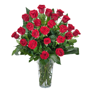 Grande Roses - 2 Dozen Roses Arrangement in Barre, VT | Forget Me Not Flowers and Gifts LLC