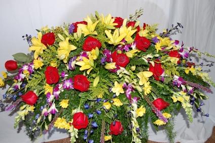 GRANDEUR OF GRACE CASKET SPRAY Funeral Flowers