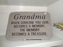 Grandma... Cement Sympathy Stone