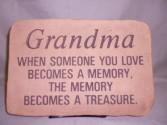 Grandma Sympathy Stone Sympathy