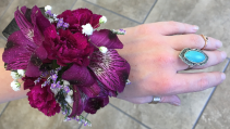 Grape Exlplosion Wrist Corsage