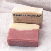 Grapefruit, White Tea & Clay Shea Avocado Olive Soap Bar