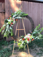 Grapevine Wreath Funeral Flower