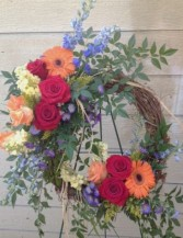 Grapevine Wreath of Brilliant Colors Wreath
