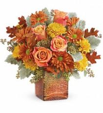 Grateful Golden Bouquet     T17T305 Fresh fall flower arrangement