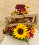Grateful Heart Basket Arrangement