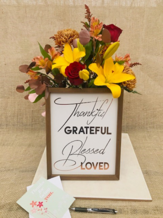 Grateful Thank You Fresh Vase Arrangement