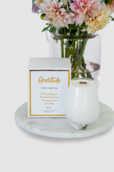 Gratitude Candle (flowers not included) Special Products