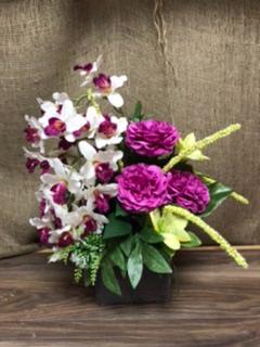 Grave arrangement  Silk flowers