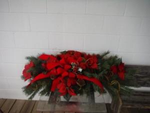 Grave blanket Cemetery piece in Barnesville, OH | THE FLOWER GARDENS