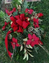 Grave Blanket for cemetery Christmas